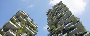 Un'immagine del Bosco Verticale dell'architetto Boeri