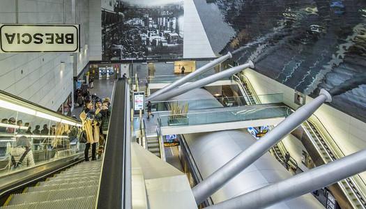 SubBrixia, la metro di Brescia diventa opera d'arte