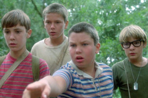 Una scena di Stand by me, film tratto da un opera di Stephen King