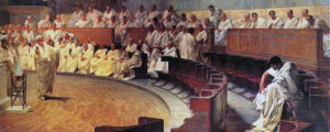 Cicerone denuncia Catilina, di Cesare Maccari