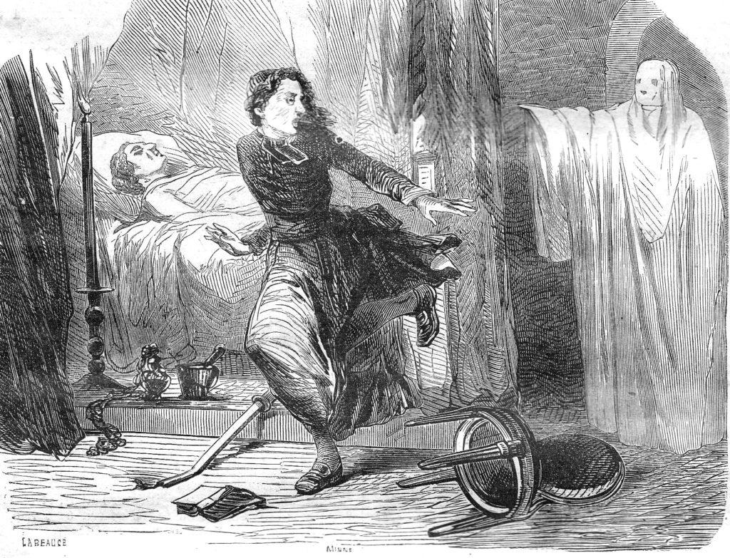Apparizione della Dama bianca, opera di Labeauce e Minne