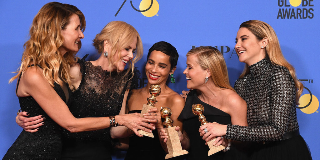 Rappresentanti del movimento Times'up durante la serata del Golden Globe Awards