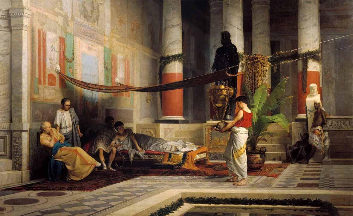 Giovanni Muzzioli: La vendetta di Poppea (1876 Modena, Museo Civico d'Arte)