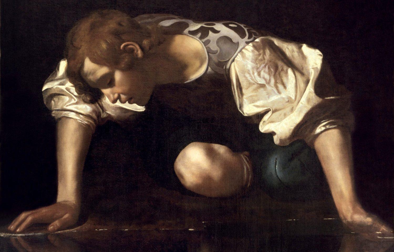 Narciso dipinto da Caravaggio
