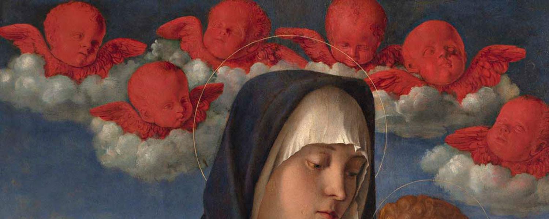 """Particolare della """"Madonna dei cherubini rossi"""" di Giovanni Bellini"""