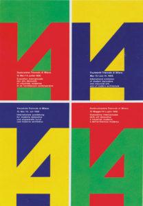 Immagine coordinata della 14-Triennale di Milano (1968, Licalbe Steiner)