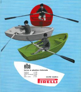 Pubblicità per barche in plastica Pirelli (1961, Licalbe Steiner)