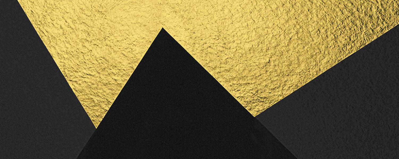 Particolare di Oro e nero 3 (Alberto Burri, 1993. Serigrafia e foglia d'oro, carta Colombe, xartiera Moulins de Larroque et Pombié)