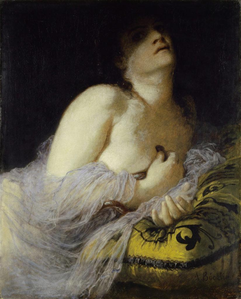 La morte di Cleopatra di Arnold Böcklin (1872)