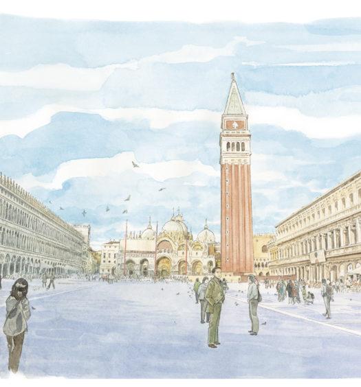 Un'illustrazione di Venezia firmata da Jirô Taniguchi