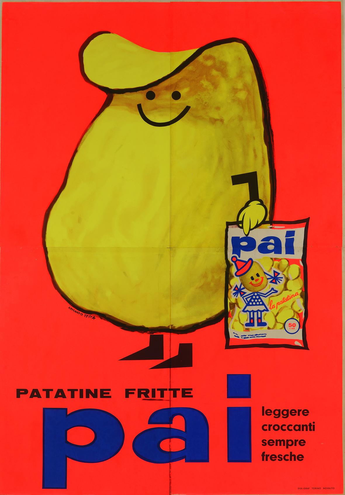 Armando Testa, Patatine fritte Pai, 1959-1960