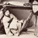 """Particolare di """"Geisha, fotografia all'albumina, periodo Meiji"""" (1868-1912)"""