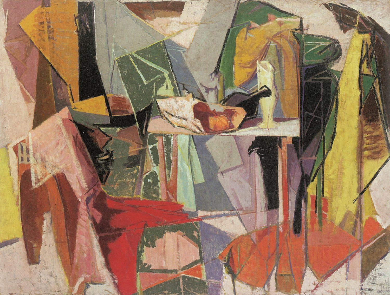 Giuseppe Capogrossi Natura morta 1948 Olio su tela 100 x 128 cm Collezione privata
